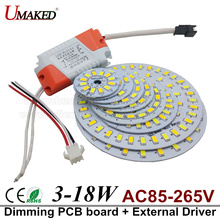 3-18W 5730 SMD Light Board Led Lamp Panel For Ceiling + AC85-265V LED power supply driver,led lighting source, led PCB board(China)