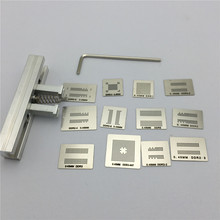 12pcs BGA Directly Heat Rework Reballing Universal Stencil Template + BGA Reballing Kit Station