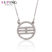 Xuping Fashion Elegant Necklace Trendy Long Necklace High Quality Hot Sell Chain Jewelry Halloween Gifts S65-3-41806(China)