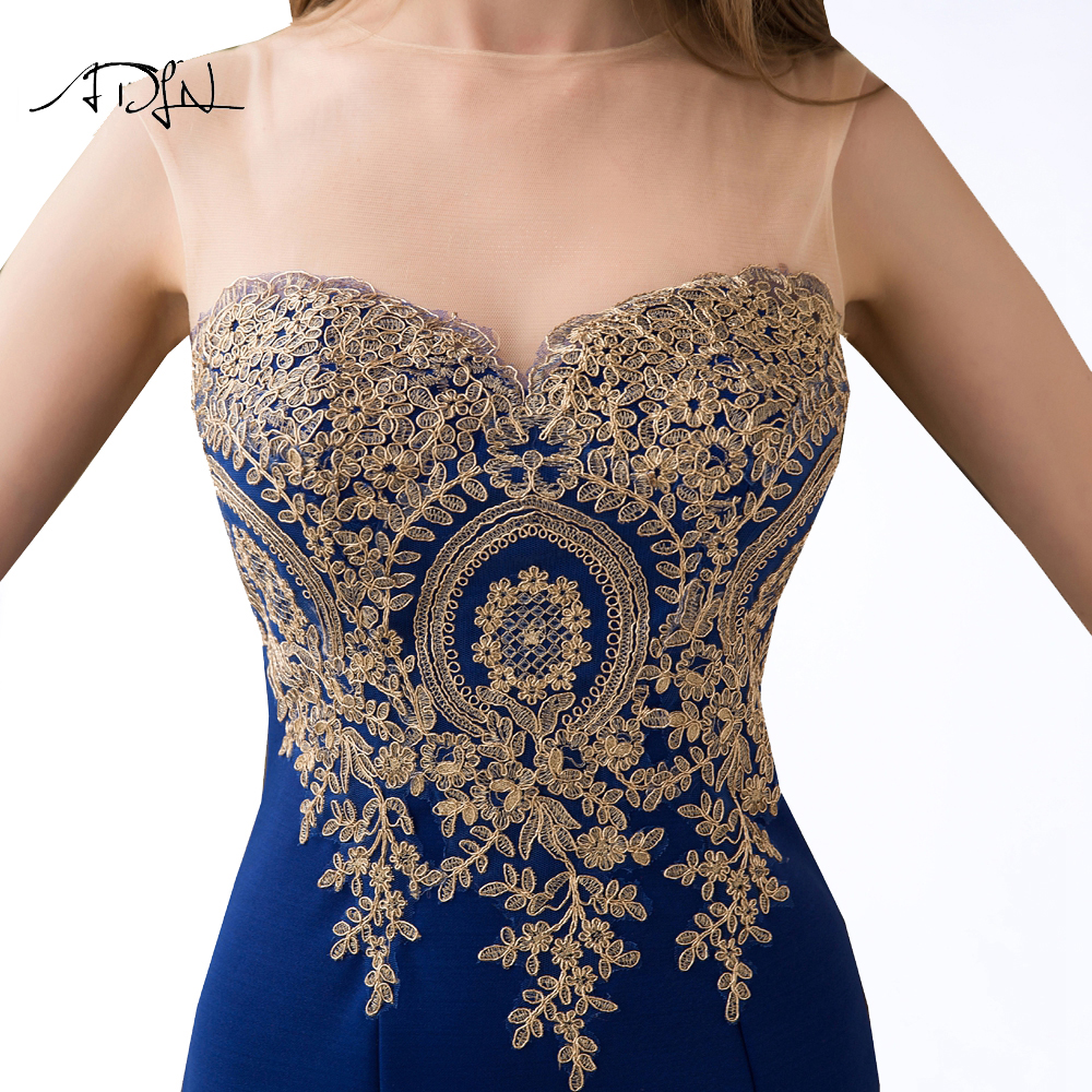 ADLN 2017 Stock Mermaid Evening Dresses Long Formal Royal Blue Party Gowns Cheap Prom Wear robe de soiree longue 10