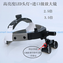 Good Quality Adjustable Dental Surgical Headlight LED Headlamp Black with magnifier Medical Lab Equipments