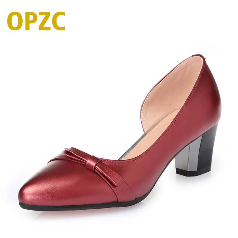 2018 new genuine leather women shoes breathable fashion commute work side empty career summer shoes women free shipping<br>