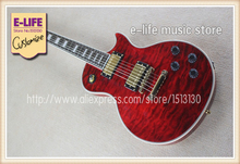 High Quality Custom LP Guitar Ebony Fretboard Vivid Quilted Maple Top Chinese Muscial Instrument For Sale