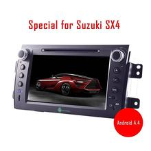 Car CD DVD Player for SUZUKI SX4 2006-2013 in Dash GPS Navigation Android car Stereo Autoradio Bluetooth Wifi Touuch Screen(China)