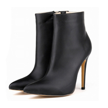 2016 new  fashion boots  woman shoes pointed high with fine with European and American pointed boots w852