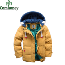 Jackets For Boys Girls Parka Duck Down Children Solid Down Jacket Baby Hooded Outerwear Infant Winter Coat 5-11T Baby Outerwear