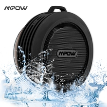 Mpow MBS6 Outdoor Portable Wireless Bluetooth Speaker IPX4 Waterproof speaker with Powerful Driver/built-in Mic Suction Speaker