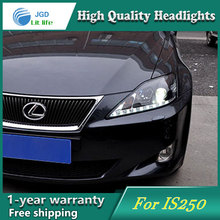high quality Car styling case for Lexus IS250 Headlights LED Headlight DRL Lens Double Beam HID Xenon
