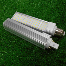 11W plc led tube G24 base led lamp bulb in downlights rotatable base 11w g24 led pl light replacing 26w cfl bulb G24D 2pcs/lot