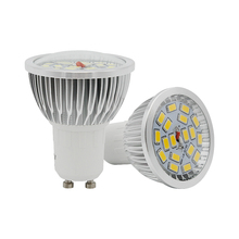 10pcs GU10 9W 18LEDs Aluminum LED Spotlight SMD 5730 Bulb Glass Surface AC 85-265V Spot Light Replace 30W 40W Halogen Lamp(China)