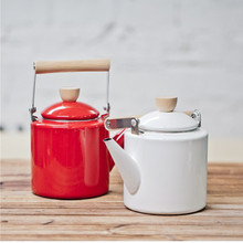 Special Offer 2.4L Enamel Water Kettle Teapot Coffee Pot Cooking Tools Straight Tisanes TeaPot Induction Cooker High Wheat Pot()