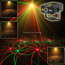 ESHINY New Mini 4in1 4 Patterns Whirlwind R&G Laser Projector Lighting Stage Disco DJ Club KTV Xmas family party light Show p17(China)