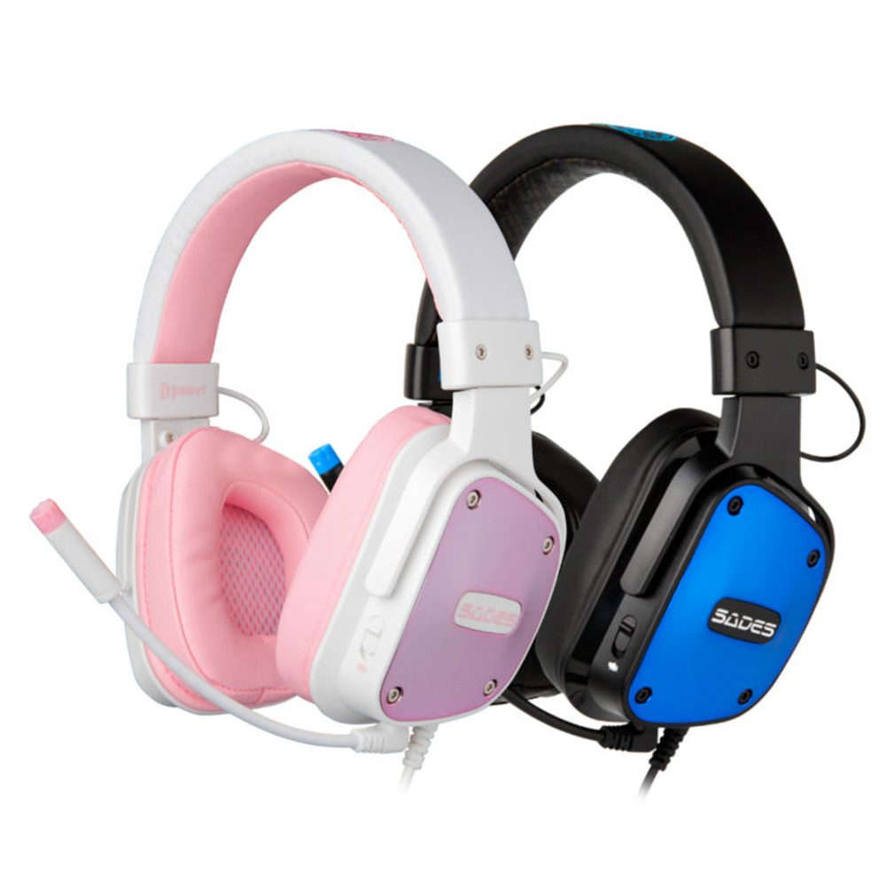 SADES Dpower Gaming Headphones 3.5mm Adjustable Headband Lovers Headphone Multi-platform Headset for PC/Xbox One/PS4<br>