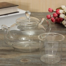 800ML Glass Kettle Clear Chinese Kungfu Teapot Heat Resistant Glass Tea Pot  Infuser Transparent Tea Set Flower Tea Coffee Gift
