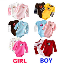 5PCS Newborn Baby Boy Girl Clothes Romper Kid Clothing Autumn Cotton Baby Girl Jumpsuit Roupas Long Sleeve Bebe Infantil Costume