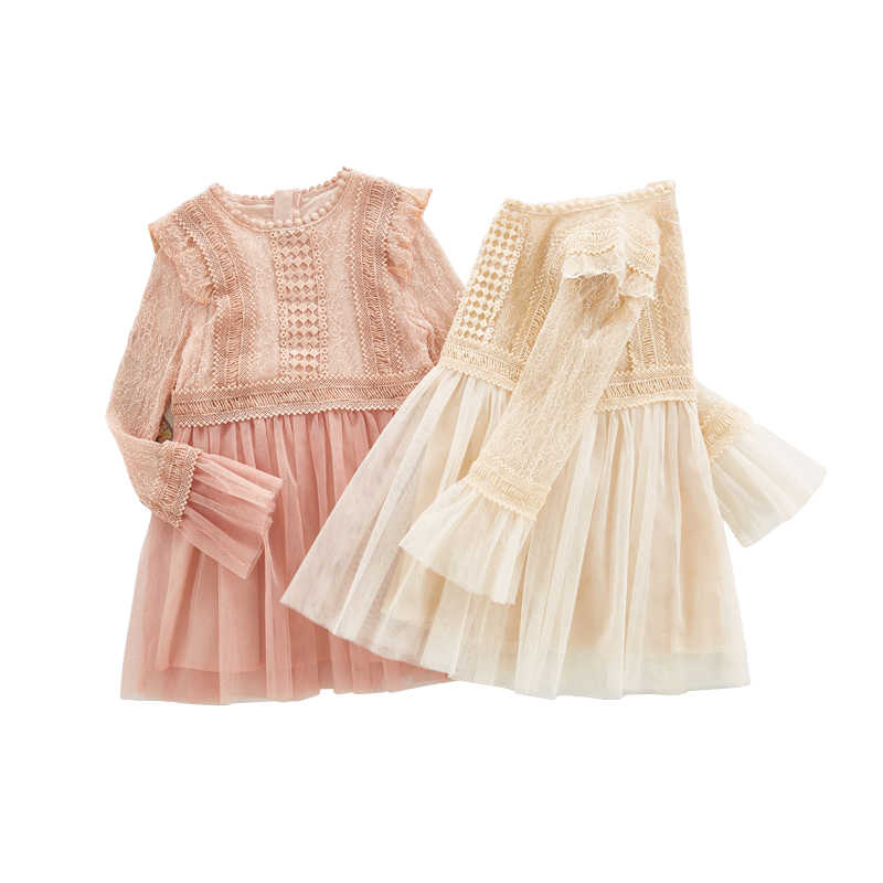 2019 new spring lace princess dresses age for 4 - 14 yrs teenage girls  vintage noble b2bb960ca87e
