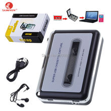 Original Portable USB Analog Tape Cassette to MP3 Converter Capture Stereo Audio Music Player for iPhone iPad PC, Free Shipping(China)
