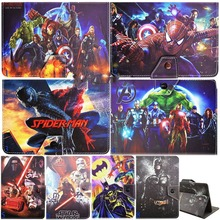 "Marvel Super Hero stand Cover PU Leather Case for 10.1"" Hp Slate 10 S10 3500us/slate 10 Hd 3600us Android Tablet Pc"