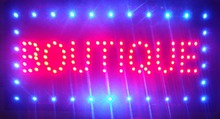 2017 Super brightly customized led light sign led Boutique sign neon led Boutique sign Boutique led indoor