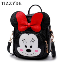Bowknot Cute Minnie Mickey Children Cartoon School Backpack For 0-3 years old Boys And Girls Lovely Cartoon Schoolbag MAQ52(China)
