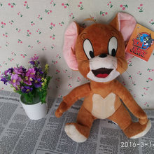 Sitting Height 30cm=11.8inch Original Tom and Jerry Plush Toy Jerry Mouse Stuffed Animals Soft Doll for Children gift