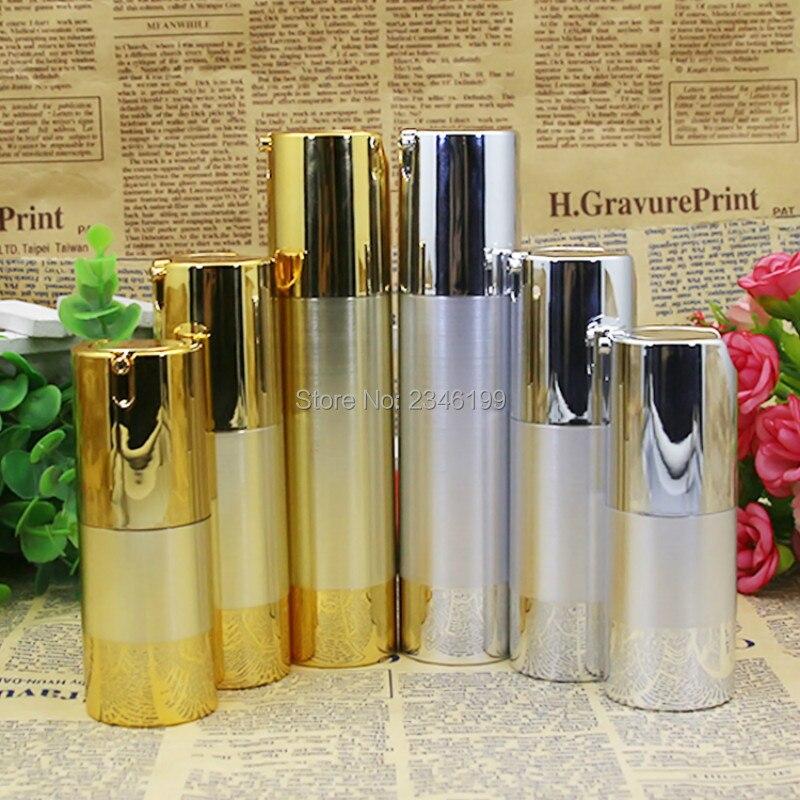50ml Plastic Bottle Airless Emulsion Pump Golden Airless Bottle 30ml Plastic Lotion Pump BBCream Bottle 15ml 30ml 50ml (2)