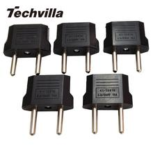 techvilla Hot 5Pcs Universal  US/USA to European Euro EU Travel Charger Adapter Plug Outlet Converter Traveling Useful Tool