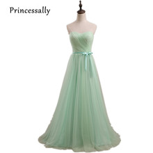 Long Pastel Mint Bridesmaid Dress off Shoulder Sweetheart Tulle Wedding Party Gown Vestidos De Festa Vestido vestido de noiva