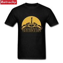 Scorpion logo T shirt Camiseta Gold 100% Cotton Tops Tees T-shirt German Fashion Casual Classic Clothes Short Sleeve Tee 2017(China)