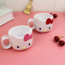 1PCS Cartoon Ceramic cup Hello Kitty Mugs Cup for Coffee Milk and Tea Water 8*7cm Lovely Cups for Kids without Spoon