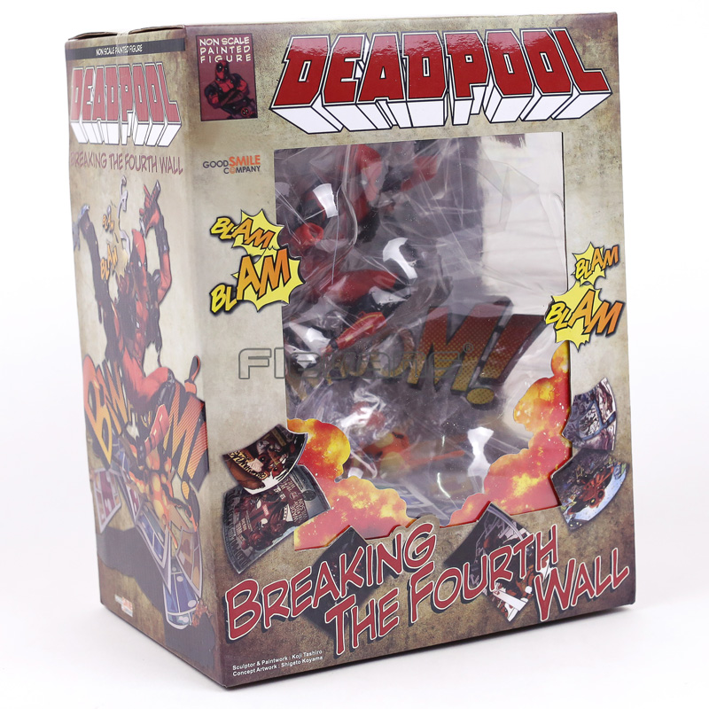 PVC Figure New In Box Marvel Superhero Deadpool Breaking The Fourth Wall Ver