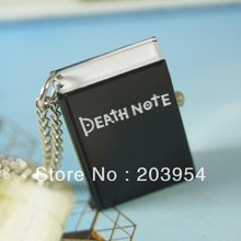 Free shipping hot cheap wholesale womens New Antique vintage jewelry novelty Pocket Watches Necklace black death note book wp319(China)