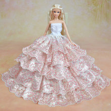 2014 New arrival! Handmade 5 layer wedding Princess dress/Luxurious lace skirt of tall waist For FR & barbie Doll