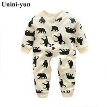 Quality Baby Boy Clothes Newborn Rompers Toddler Infant Costumes 3 6 18M Pajamas Clothing Autumn carters Baby Girl Clothes(China)