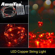 100% Waterproof Heart Shaped Red Led String  Holiday Lighting Christmas Lights Wedding Decoration Lights Flexible Led Strip Tape