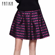 Buy FATIKA 2017 Fashion Women Mini Skirt Ladies Cherry Pattern Casual Vintage Style Skirts High Waist A-Line Skirts Ladies for $14.12 in AliExpress store