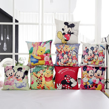 7 Styles 3D Mickey Mouse and Minnie Mouse Plush Pillow Toys Mickey and Minnie Plush Doll Toys Cartoon Children's Pillow Cloth(China)