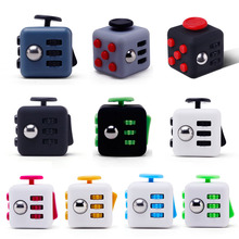 Mini Fidget Cube Toy Vinyl Desk Finger Toys Squeeze Fun Stress cube Reliever 3.3cm High Quality Antistress Cub(China)