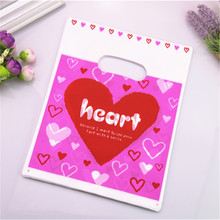 2017 New Design Wholesale 100pcs/lot 20*25cm Luxury Red Sweet Heart Birthday Present Gift Bags Favor Wedding Gift Packaging