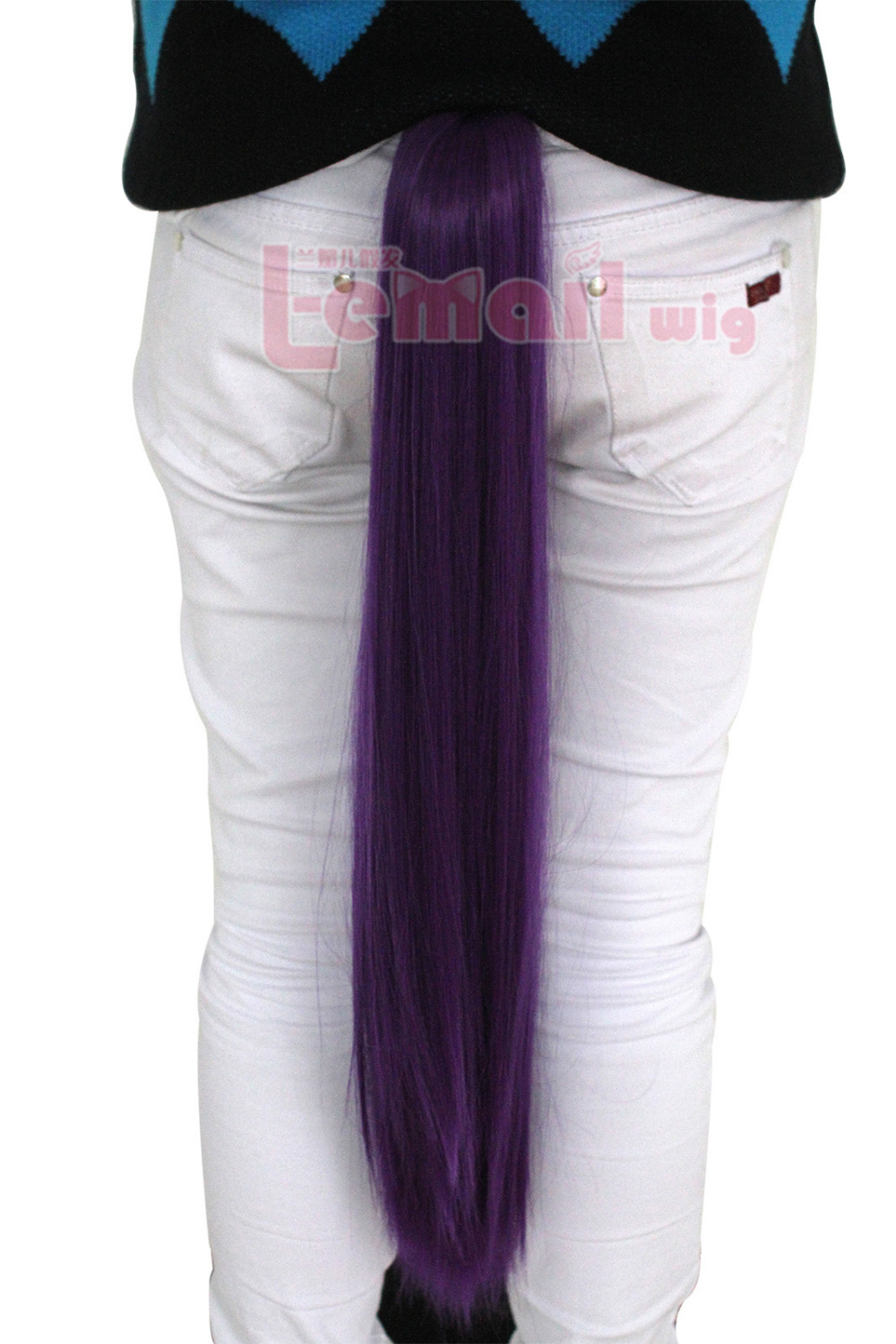 New cheap for women and girl  65cm long straight purple cosplay wigs claw on wigs Free Shipping pj29<br><br>Aliexpress