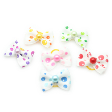 Armi store Handmade Lovely Color Balloons Pattern Ribbon Dog Bow Grooming Bows For Dogs 6029003 Pet  Hair Accessories Wholesale