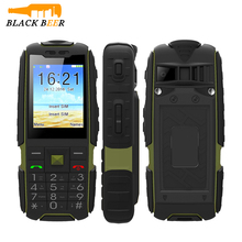 SUPPU X6000 IP67 Rugged Waterproof Power Bank Phone MTK6261 6000mAh Big Battery 2.4'' Feature Torch Phone old people phone(China)