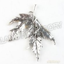 Latest Design 30pcs/lot New Charms Maple Leaf Alloy Antique Silver Plated Pendant Finding Fit Jewerly DIY 54*44*3.5mm 142661