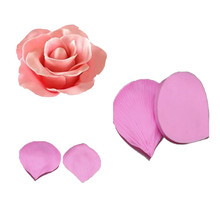 3D Rose Petals Shape Fondant Cake Mold Fondant Decoration Soap Chocolate Mould for Kitchen Baking Cake Tools Handmade Soap Mold~