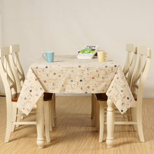 Cute Small Sailboat Table Cloth Cotton Linen Tableclothes Beige Dust-proof Tablecovers for Kitchen Coffee Dinning Table Cover(China)