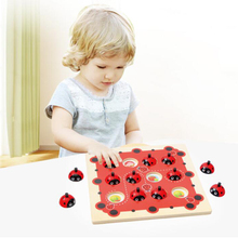 Cartoon Ladybug Design Kids Memory Training Game Chess Montessori Material Early Development Toy Family Game Tool