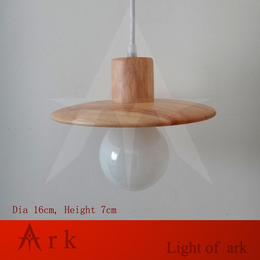 ark light Vintage wood color UFO shape Retro lamp E27/E26 socket wood lampholder Hanging light fixture.no light bulbs<br>