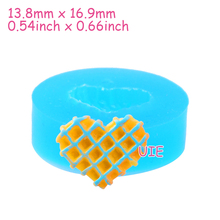 QYL003U Heart Waffle Cookie Silicone Mold - Cupcake Topper, Sugarcraft, Fondant, Jewelry Making, Icing, Resin Clay, Candy Mold(China)