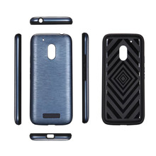 New hot Fashion Hybrid Armor Cover For Motorola Moto G4 Play Case Back Coque Hard PC+TPU silicon Drawing lines Mobile Phone Case(China)