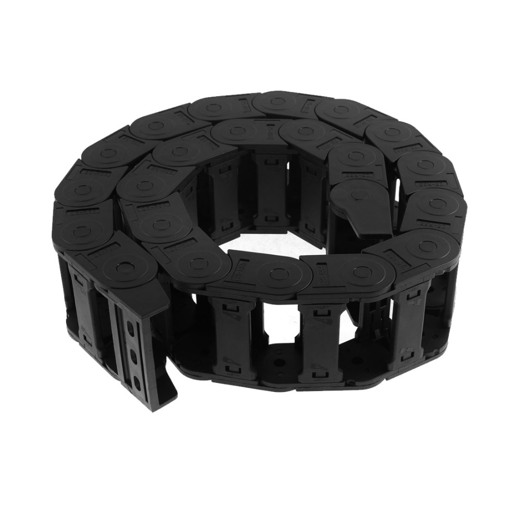 25mm x 57mm Cable Drag Chain Wire Carrier 105cm Length for Engraving Cutting Machine Transmission Chains with End Connector<br>